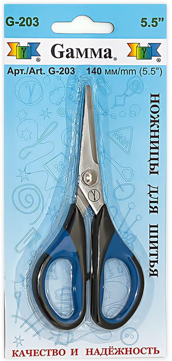 Ножницы для шитья и рукоделия Gamma, длина 14 см ножницы универсальные gamma длина 19 5 см