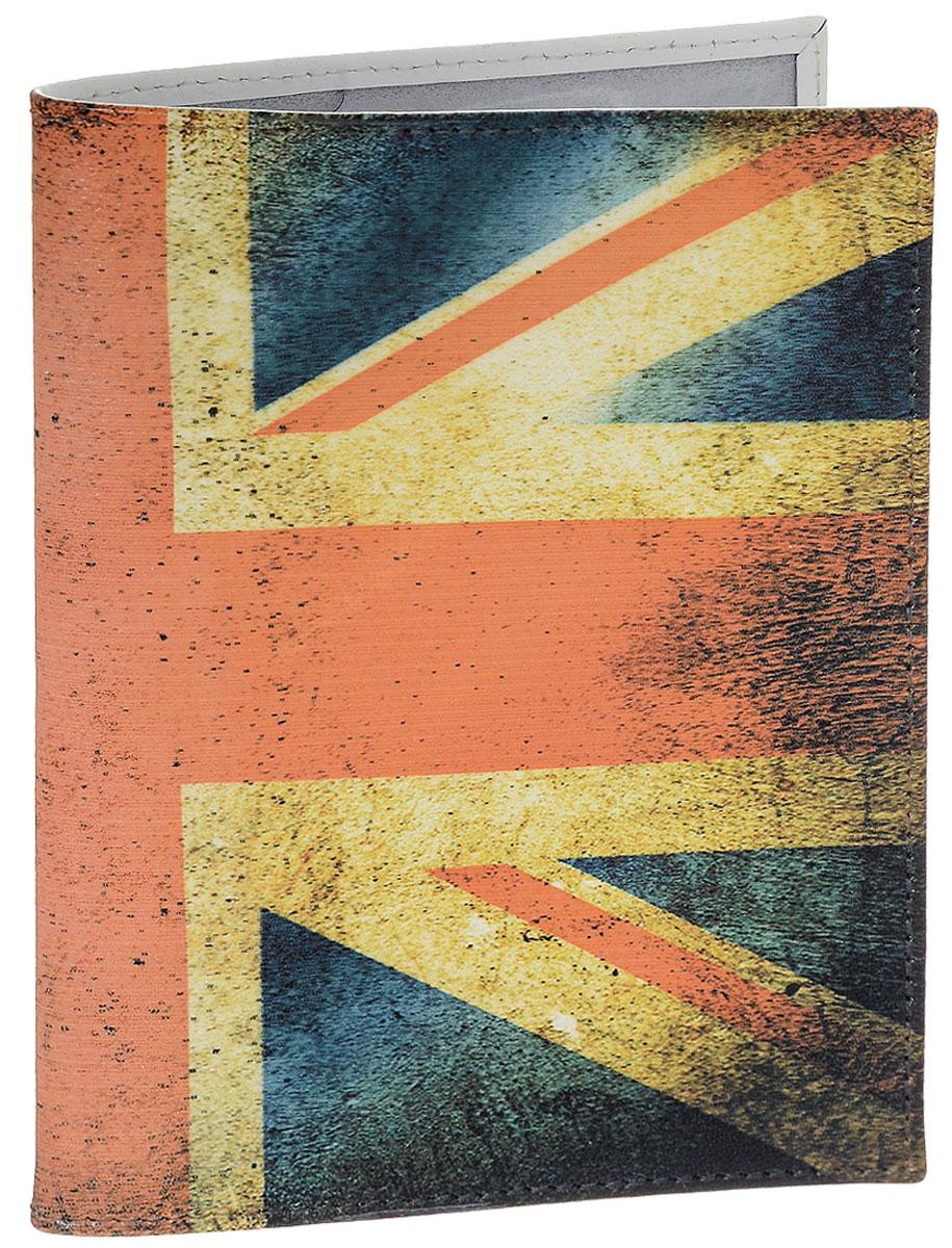 Обложка для паспорта Perfecto United Kingdom, цвет: синий, красный. PS-PR-0014