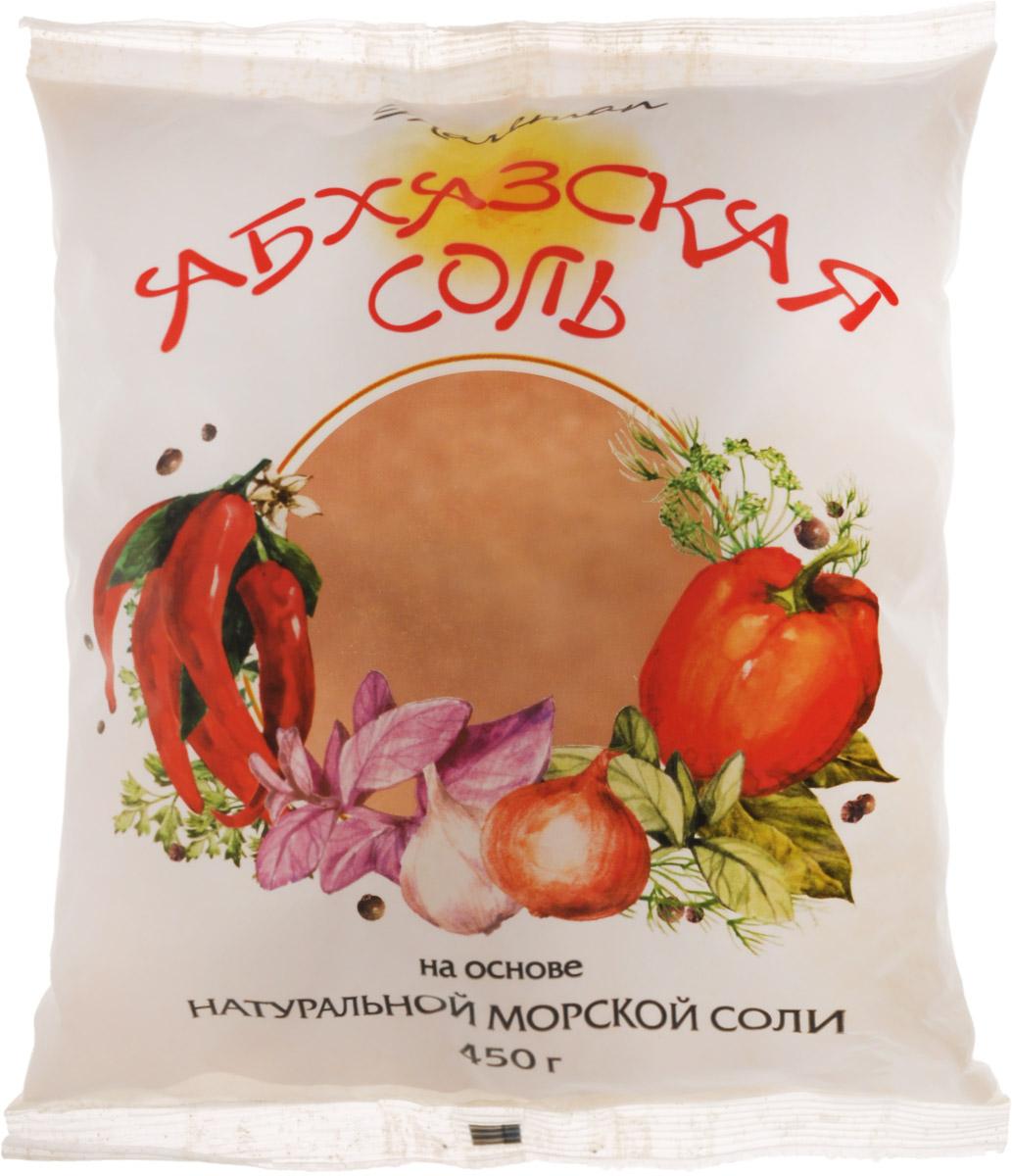 Mareman соль Абхазская, 450 г4607012294265Аджика в переводе с абхазского означает соль, сами же абхазы называют эту приправу апырпыл-джика (перечная соль) или аджиктцатца), то есть соль, перетертая с чем-то.Ее появление связывают с абхазскими чабанами, когда весной угонялись отары в горы, хозяева выдавали чабанам соль для добавки в питание только лишь овцам. После приема пищи с солью овцы, томимые жаждой, ели травы намного больше и быстрее набирали в весе.В те давние времена соль была дорогим товаром, и хозяева отар специально подмешивали в нее красный жгучий перец, чтобы чабаны не присыпали ей свою еду.После чего соль теряла свой первоначальный вид, однако это не помешало чабанам использовать ее в качестве ароматной приправы, добавив чеснок, кинзу, хмели-сунели и прочие пряности.Традиционная аджика, приготовленная по старинным рецептам, с добавлением натуральной морской соли подарила нашему столу абхазскую соль.Уважаемые клиенты! Обращаем ваше внимание, что полный перечень состава продукта представлен на дополнительном изображении. Рекомендуем!