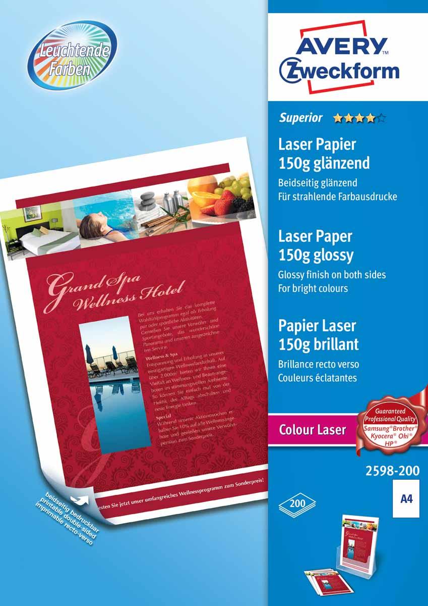 Avery Zweckform Бумага для лазерных принтеров Super глянцевая двухсторонняя А4 150 г/м2 200 листов