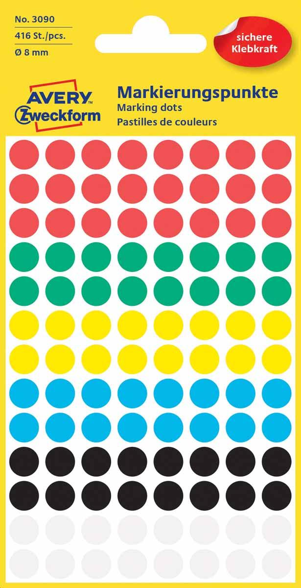 Avery Zweckform Этикетки круглые диаметр 8 мм 416 шт