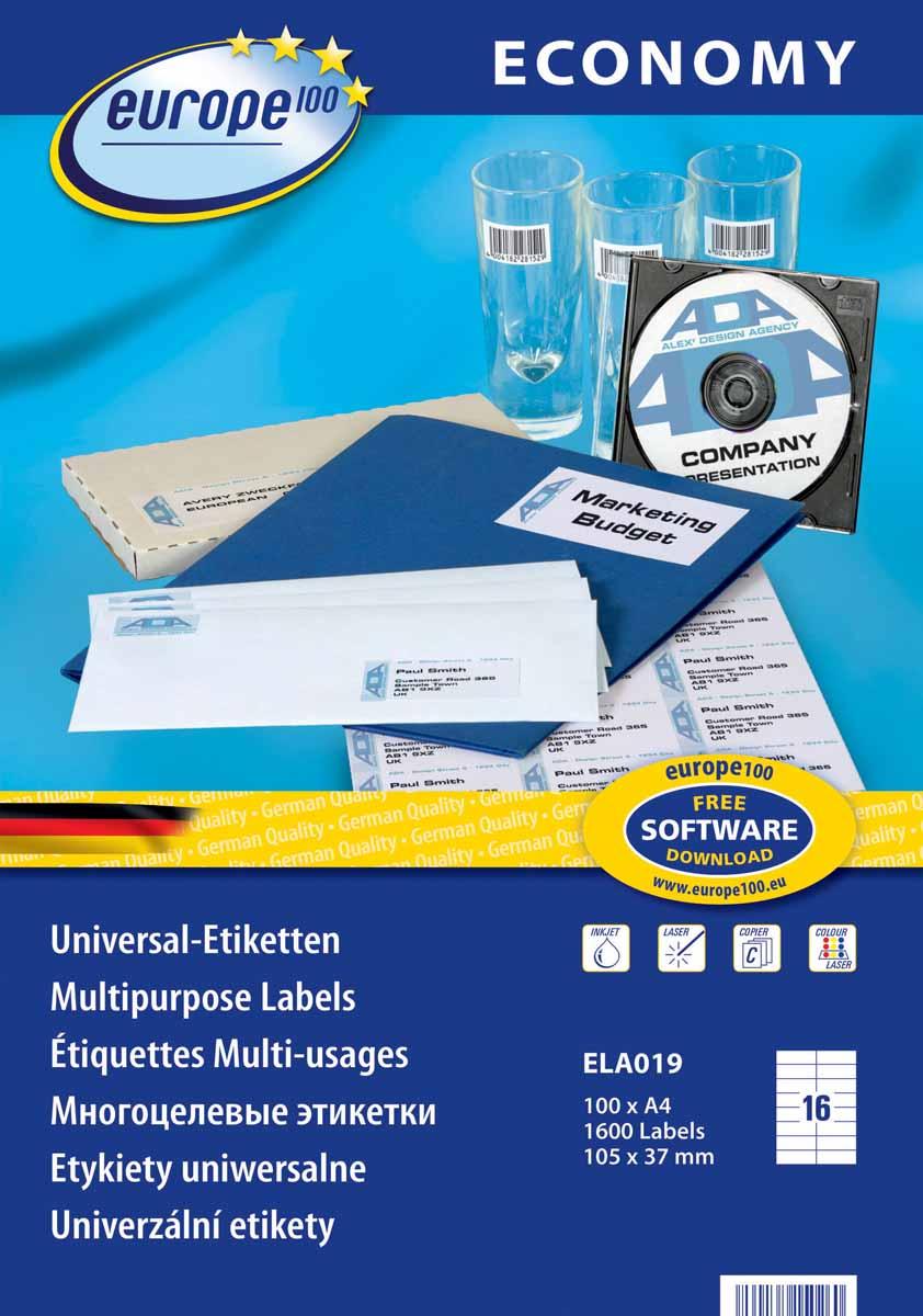 Avery Zweckform Этикетки самоклеящиеся Европа-100 105 х 37 мм 100 листов
