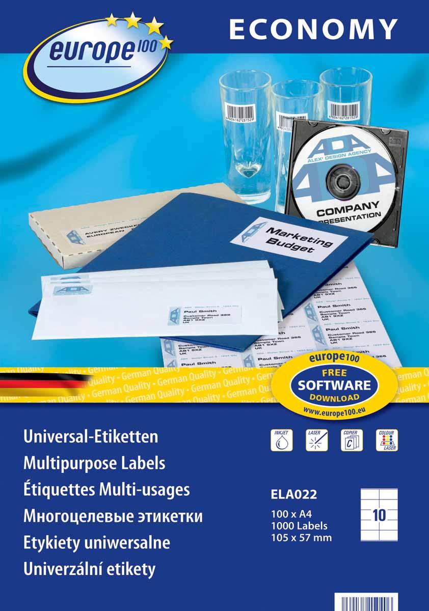 Avery Zweckform Этикетки самоклеящиеся Европа-100 105 х 57 мм 100 листов