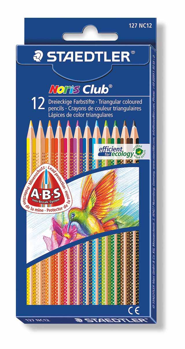 Staedtler Набор цветных карандашей Noris Club 12 цветов staedtler мелок восковой noris club 12 цветов