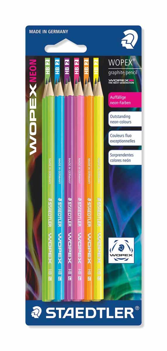Staedtler Набор чернографитовых карандашей Wopex NEON HB 12 шт staedtler карандаш акварельный karataquarell набор 36 цветов