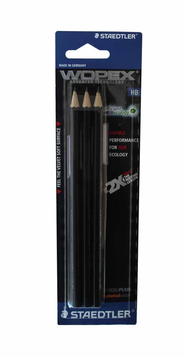 Staedtler Набор чернографитных карандашей Wopex 3 шт staedtler чернографитный карандаш wopex нв 3 шт