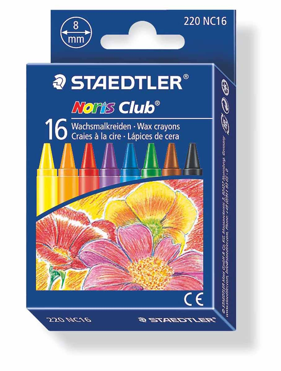 Staedtler Набор восковых мелков Noris Club 16 цветов цена