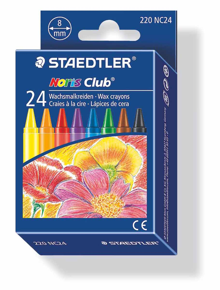 Staedtler Набор восковых мелков Noris Club 24 цвета staedtler мелок восковой noris club 12 цветов