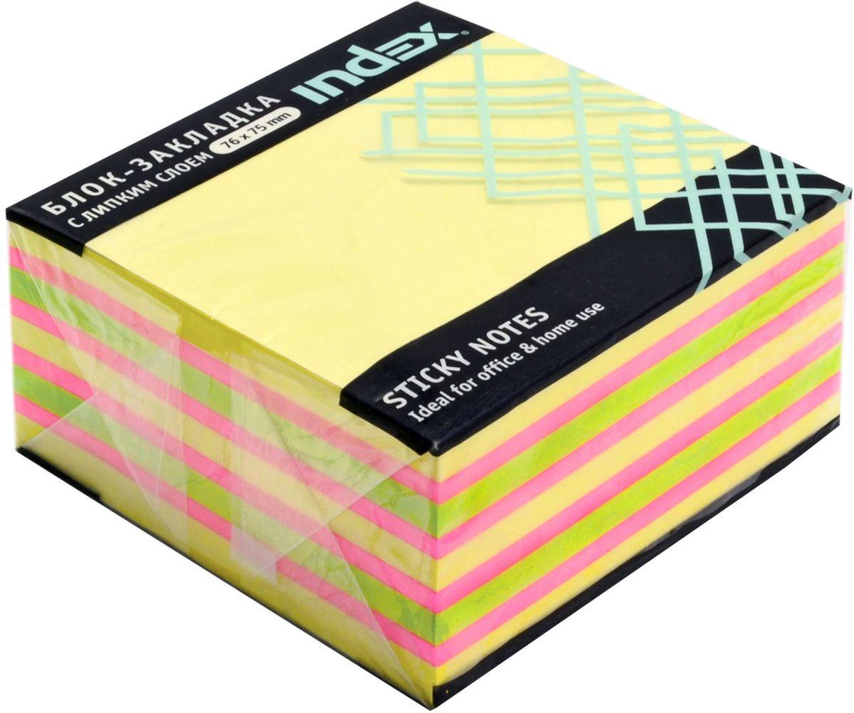 Index Бумага для заметок с липким слоем цвет желтый 400 листов I433811 index бумага для заметок с липким слоем 7 6 х 7 5 см цвет желтый 400 листов i433812