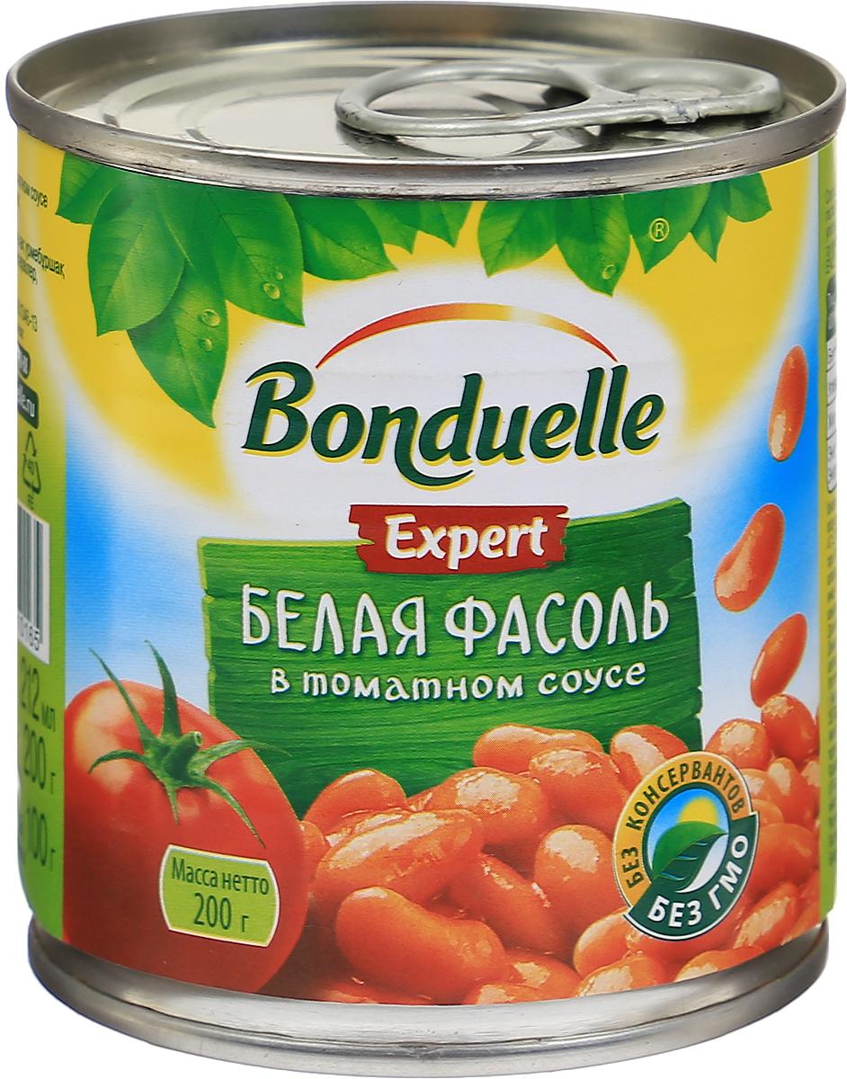 Bonduelle белая фасоль в томатном соусе, 200 г фасоль bonduelle на пару зеленая тонкая