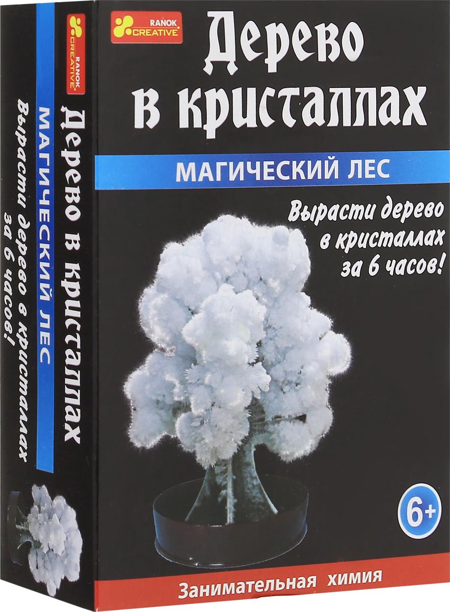Ranok Набор для опытов Дерево в кристаллах цвет белый набор для выращивания ранок твоя фоторамка в кристаллах