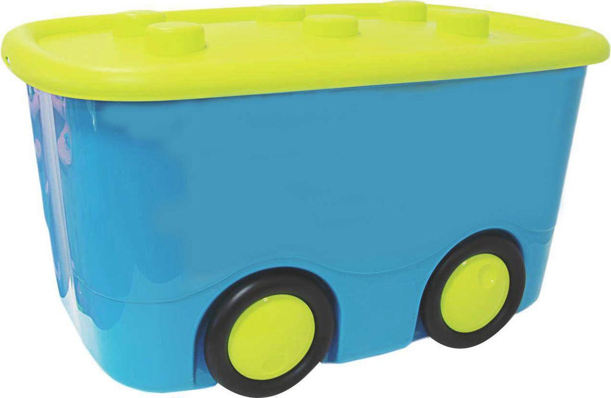 Idea Ящик для игрушек Моби цвет бирюзовый 41,5 х 60 х 32 см цена 2017