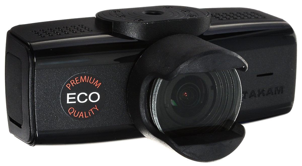 Datakam 6 Eco, Black видеорегистратор6 ECOВидеорегистратор Datakam 6 Eco отличается удобной конструкцией и надежностью. Данная модель оснащена широкоугольным объективом (с углом обзора 150 градусов), динамиком и микрофоном, что гарантирует запись полной картины в любой дорожной ситуации. Регистратор Datakam 6 Eco записывает видео в формате 2304x1296 и оборудован датчиком удара. Поддержка карт памяти формата microSD объемом до 64 ГБ обеспечивает бесперебойную съемку и дальнейшее хранение файлов. Видеорегистратор питается от автомобильного прикуривателя или встроенного резервного аккумулятора.
