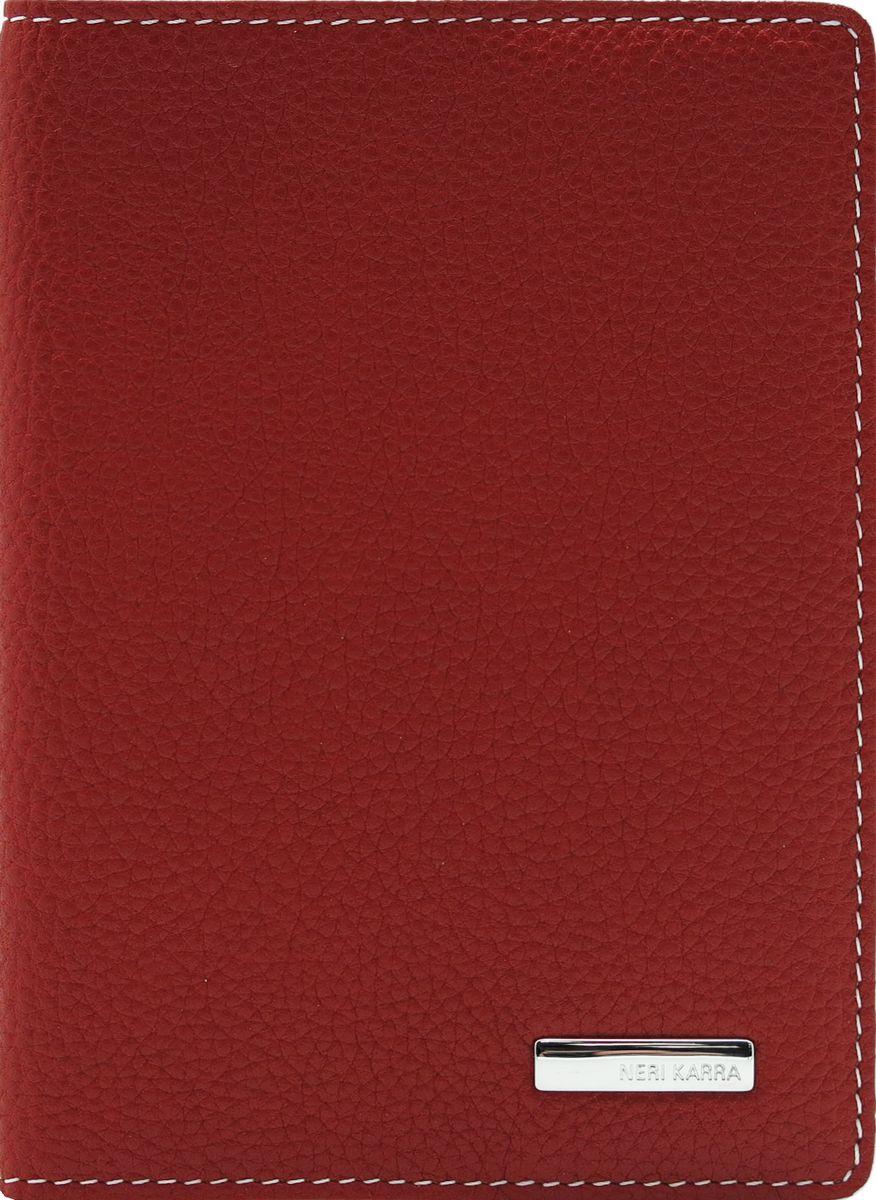 Обложка для паспорта женская Neri Karra, цвет: красный, белый. 0140 05.05/12