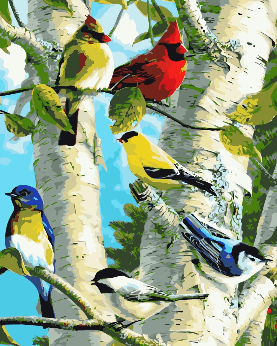 Нарисовать открытку, открытки природа и птицы