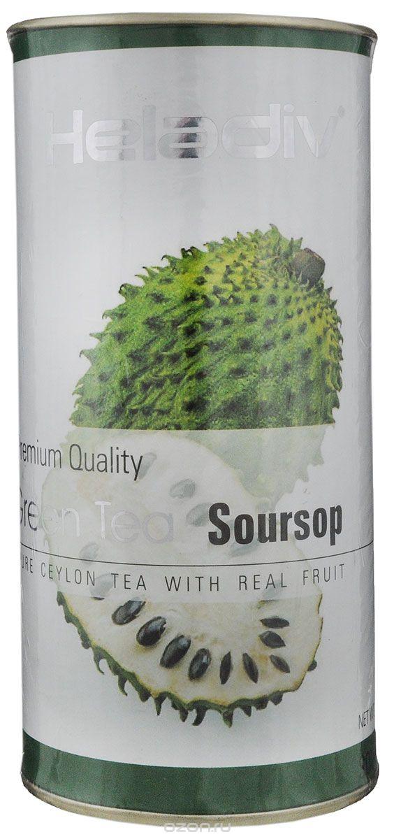 Heladiv Soursop чай зеленый листовой с ароматом саусепа, 100 г цена