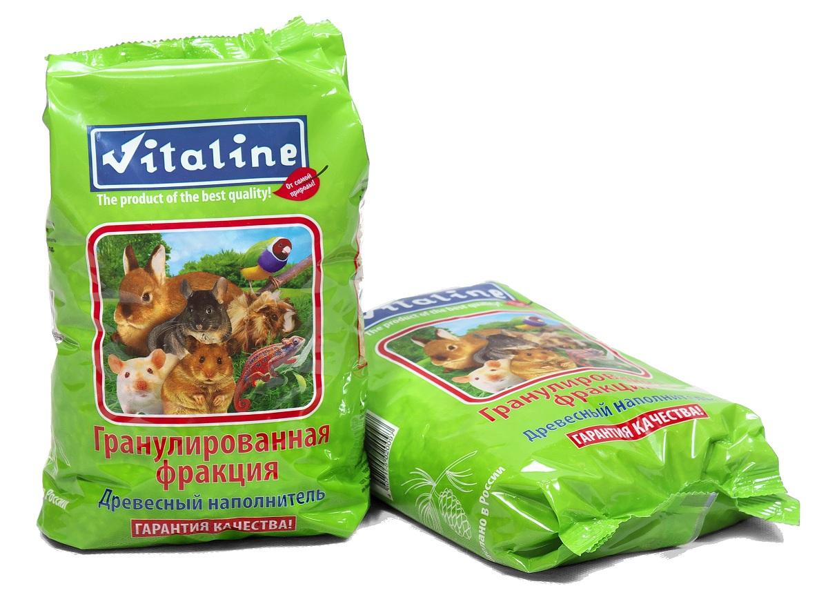 Наполнитель для кошачьего туалета Vitaline Гранулированная фракция, древесный, 1,5 кг наполнитель для кошачьего туалета vitaline из лиственных пород древесины 4 5 л