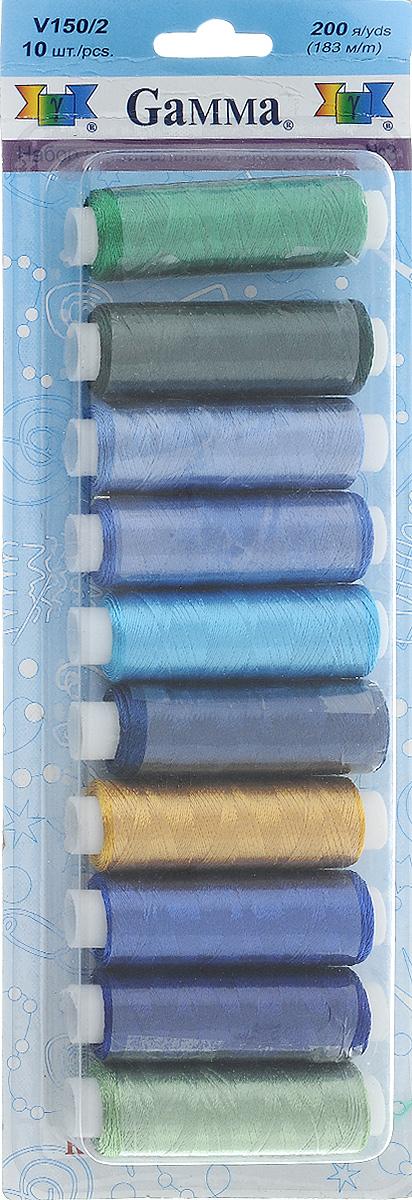 Нитки для вышивания Gamma Набор №3, 183 м, 10 шт набор луп для рукоделия gamma 3 шт