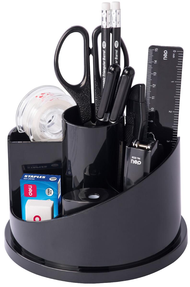 Deli Канцелярский набор цвет черный 15 предметов officespace настольный канцелярский набор витраж 11 предметов