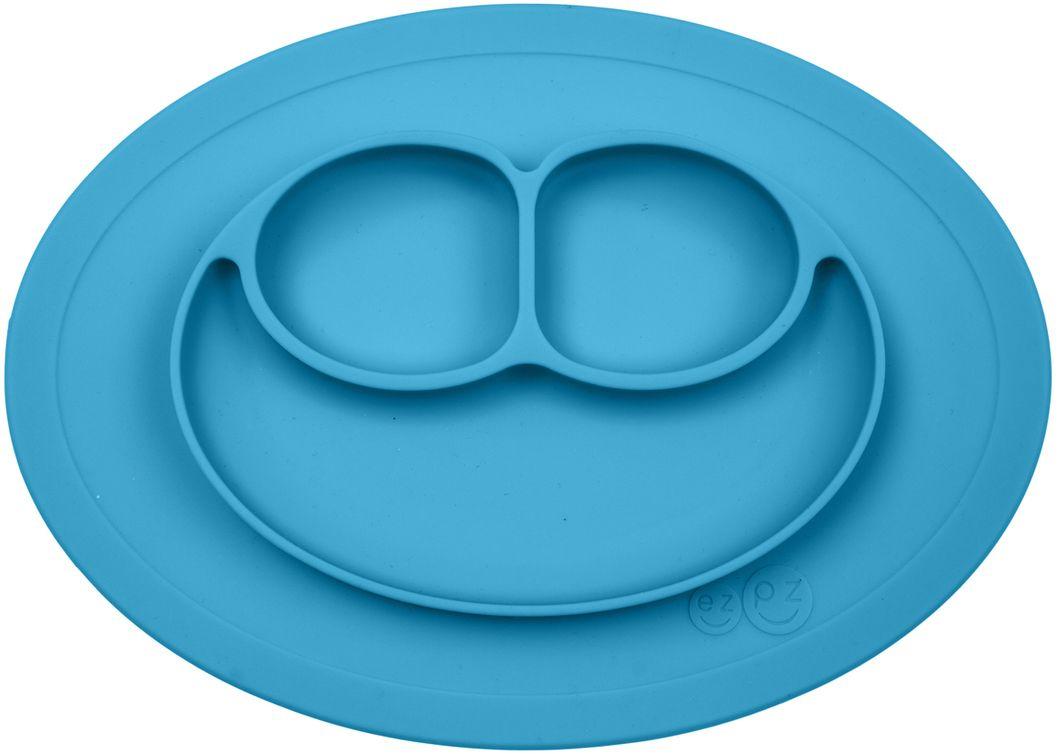 Ezpz Тарелка детская Mini Mat цвет голубой