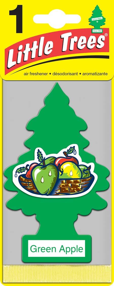 Освежитель Car-Freshner Елочка Зеленое яблоко ароматизатор елочка car freshner карибский коктейль