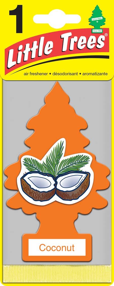 Освежитель Car-Freshner Елочка Кокос ароматизатор елочка car freshner карибский коктейль
