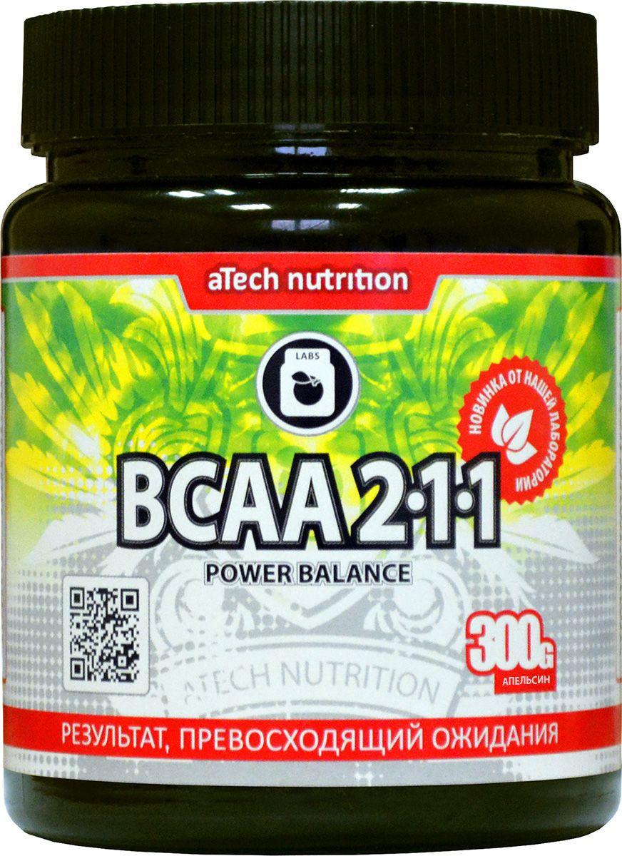 """Комплекс аминокислотный aTech Nutrition """"BCAA 2:1:1 Power Balance"""", апельсин, 300 г"""