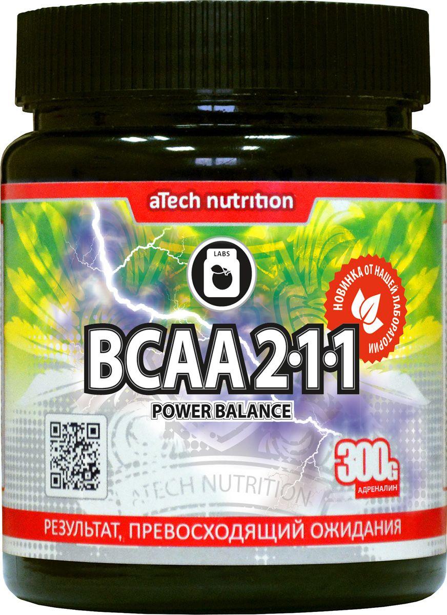 """Комплекс аминокислотный aTech Nutrition """"BCAA 2:1:1 Power Balance"""", адреналин, 300 г"""