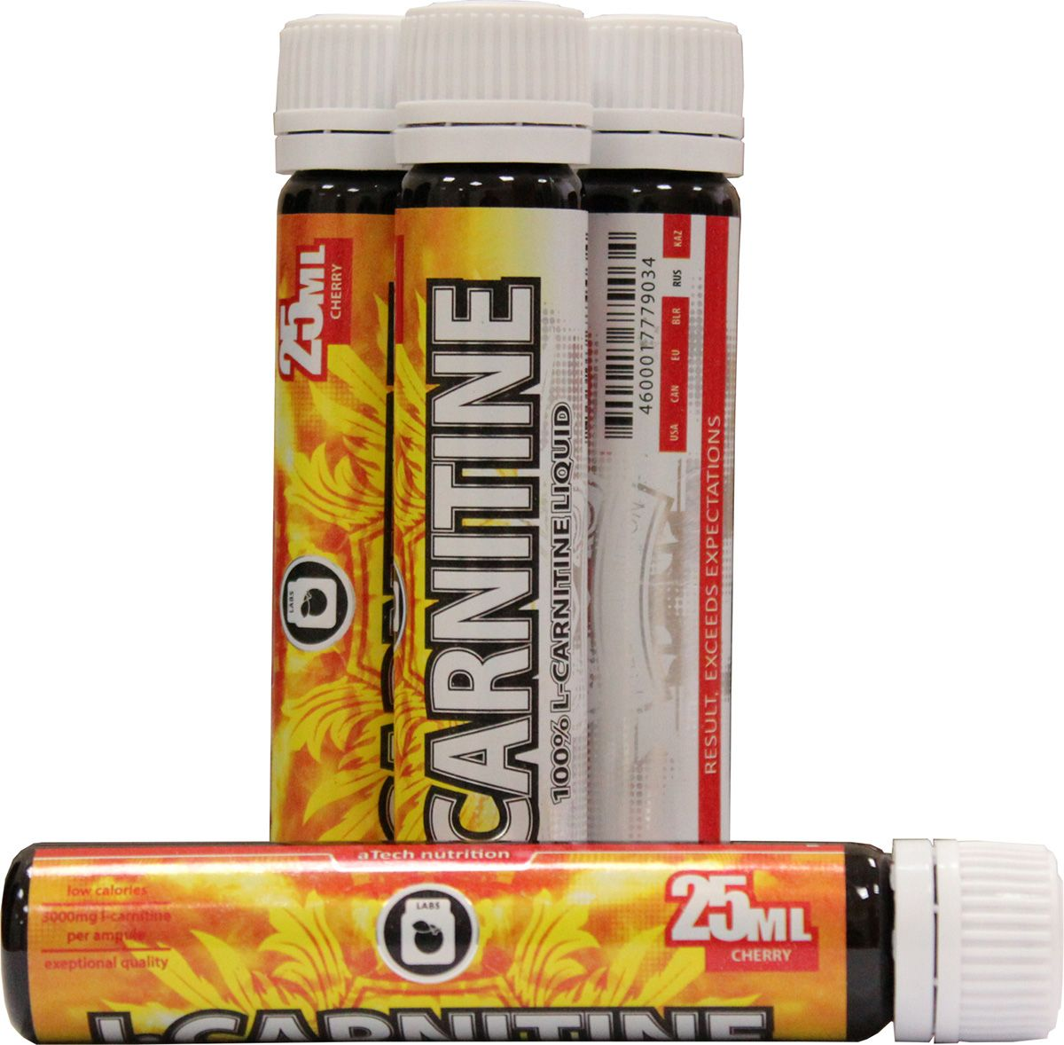 L-карнитин aTech Nutrition L-Carnitine 3000 Liquid, вишня, 25 мл l карнитин sport technology nutrition l carnitine guarana 0 5 л