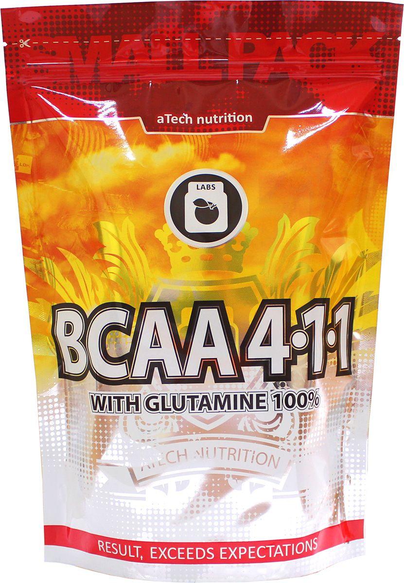 """Комплекс аминокислотный aTech Nutrition """"BCAA 4:1:1"""", с глютамином, зеленое яблоко, 1 кг"""