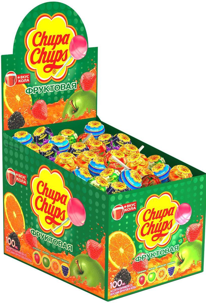 Chupa Chups карамель Ассорти, 100 шт по 12 г