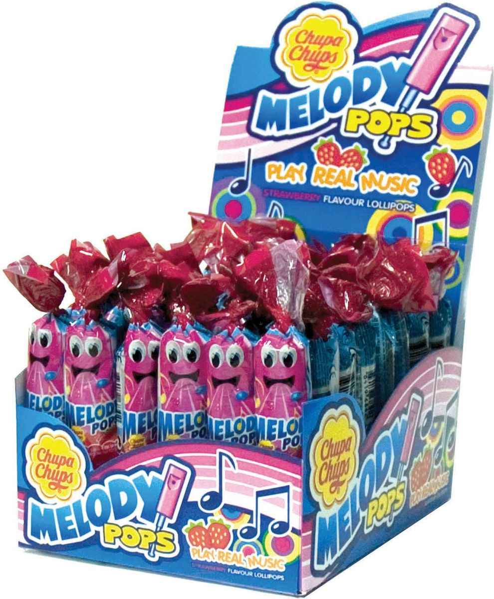 Chupa Chups карамель Melody Pops, 48 шт по 15 г леденец chupa chups b pop со вкусом тропических фруктов 45 шт по 15 г