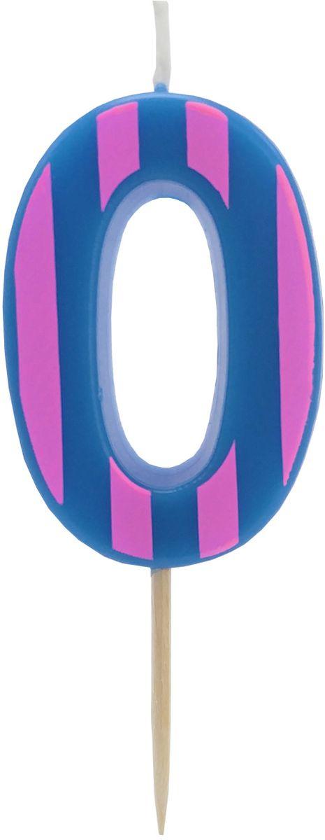 Action! Свеча-цифра для торта 0 лет цвет фиолетовый action свеча цифра для торта 7 лет цвет розовый