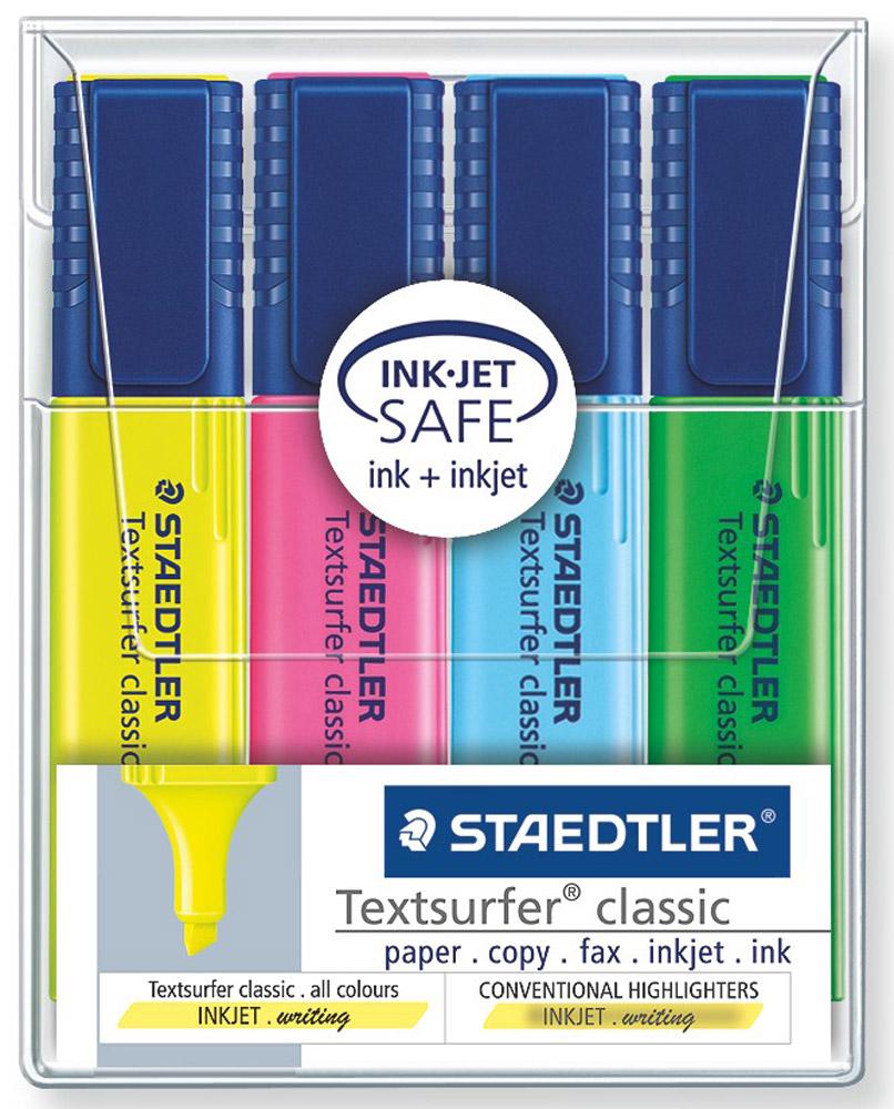 Staedtler Набор текстовыделителей Classic 4 цвета набор текстовыделителей silwerhof prime 4 цвета 108031 00