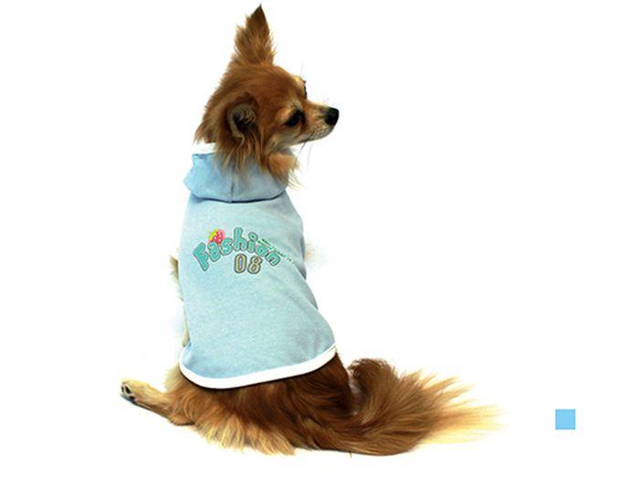 "Майка для собак Каскад ""Fashion"", унисекс, цвет: голубой. Размер M"