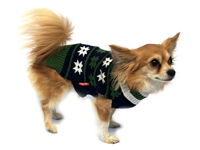 """Свитер для собак Каскад """"Рисунок"""", унисекс, цвет: болотный. Размер M"""