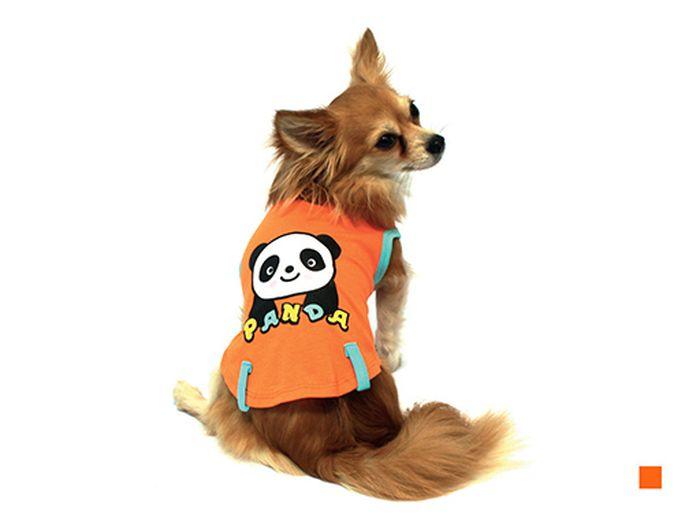 """Майка для собак Каскад """"Панда"""", унисекс, цвет: оранжевый. Размер L"""