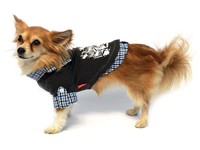 """Рубашка для собак """"Каскад"""", унисекс, цвет: серый. Размер S"""