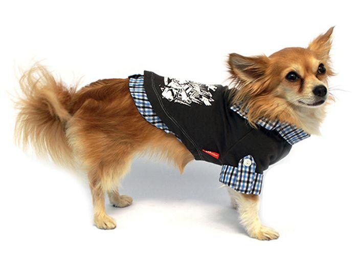 """Рубашка для собак """"Каскад"""", унисекс, цвет: серый. Размер L"""