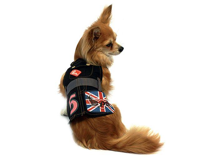 "Сарафан для собак Каскад ""5"", цвет: черный, красный. Размер L"