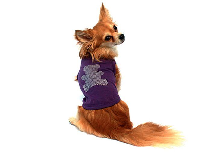 """Майка для собак Каскад """"Мишка"""", унисекс, цвет: фиолетовый. Размер S"""