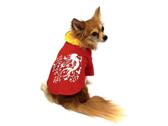 "Футболка для собак Каскад ""Эльф"", унисекс, цвет: красный. Размер M"