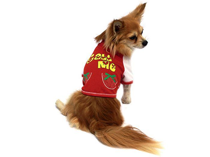 """Футболка для собак Каскад """"Call Me"""", унисекс, цвет: красный. Размер L"""