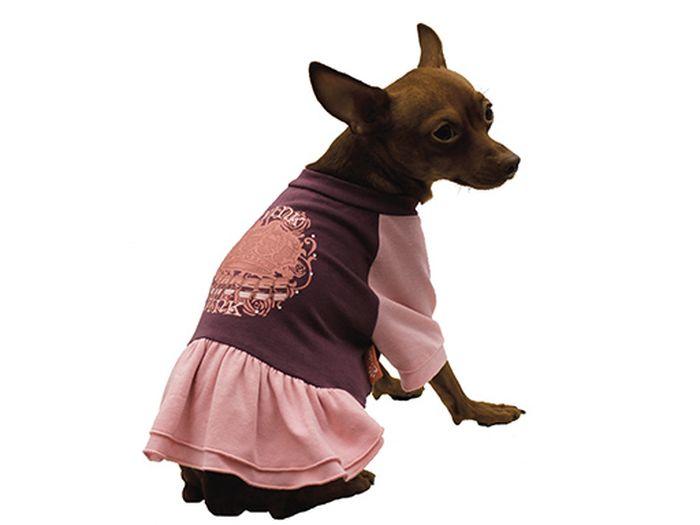 """Платье для собак Каскад """"Pink"""", цвет: фиолетовый, розовый. Размер M"""