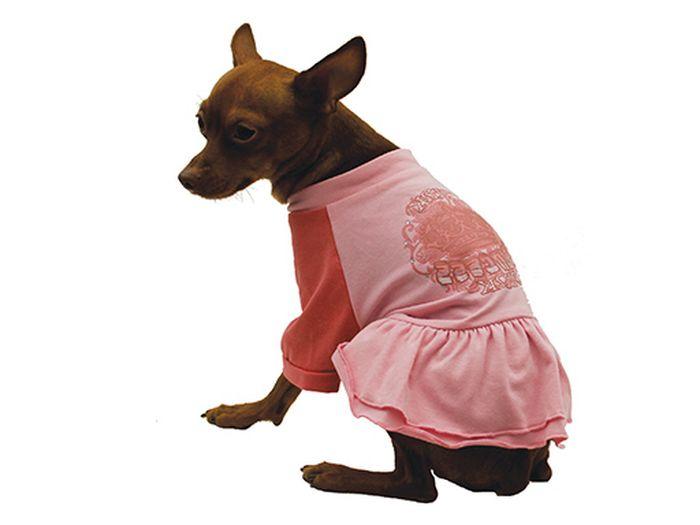 """Платье для собак Каскад """"Pink"""", цвет: розовый, коралловый. Размер L"""