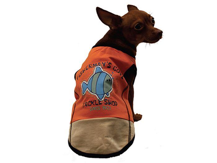 "Майка для собак Каскад ""Fisherman'S Cove"", унисекс, цвет: оранжевый. Размер S"