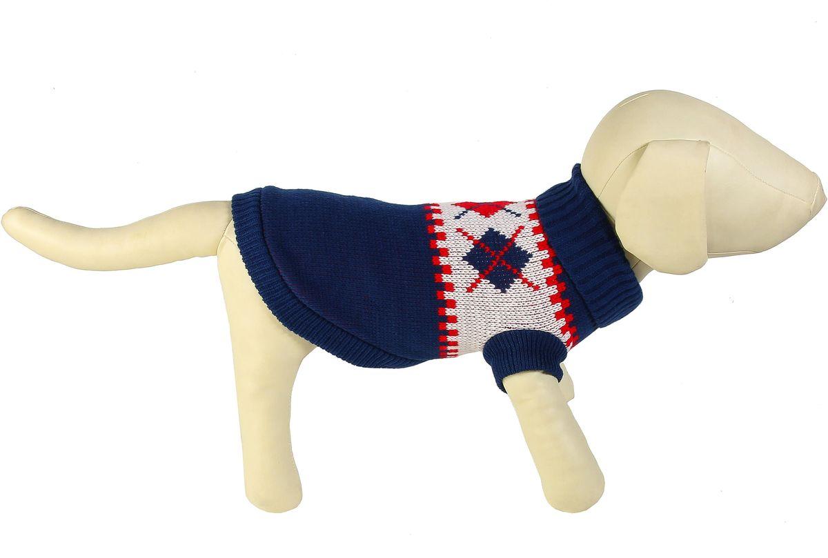 "Свитер для собак Каскад ""Исландия"", унисекс, цвет: синий. Размер XXL"