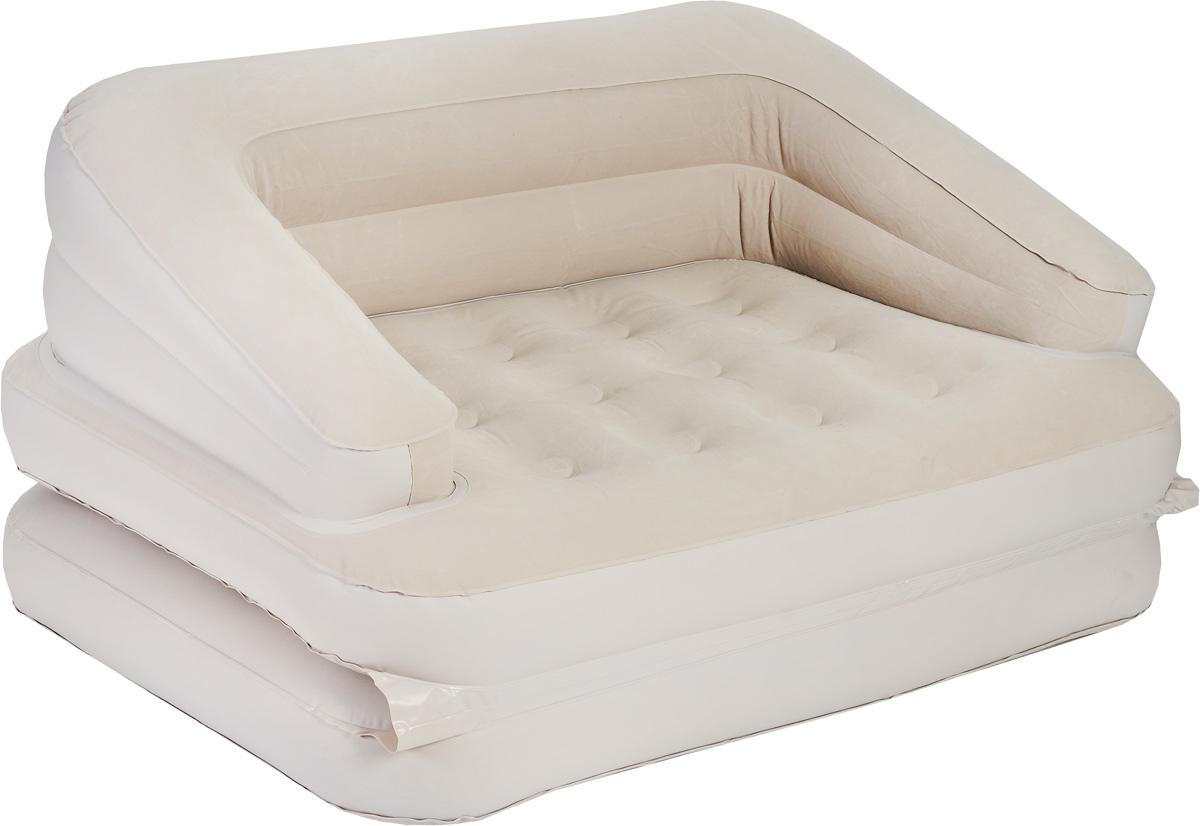 Кровать Jilong Sofa Bed, трансформер, с электрическим насосом, цвет: бежевый, 205 см х 146 см бассейны jilong round stell frame pools 360х76 см с фильтр насосом