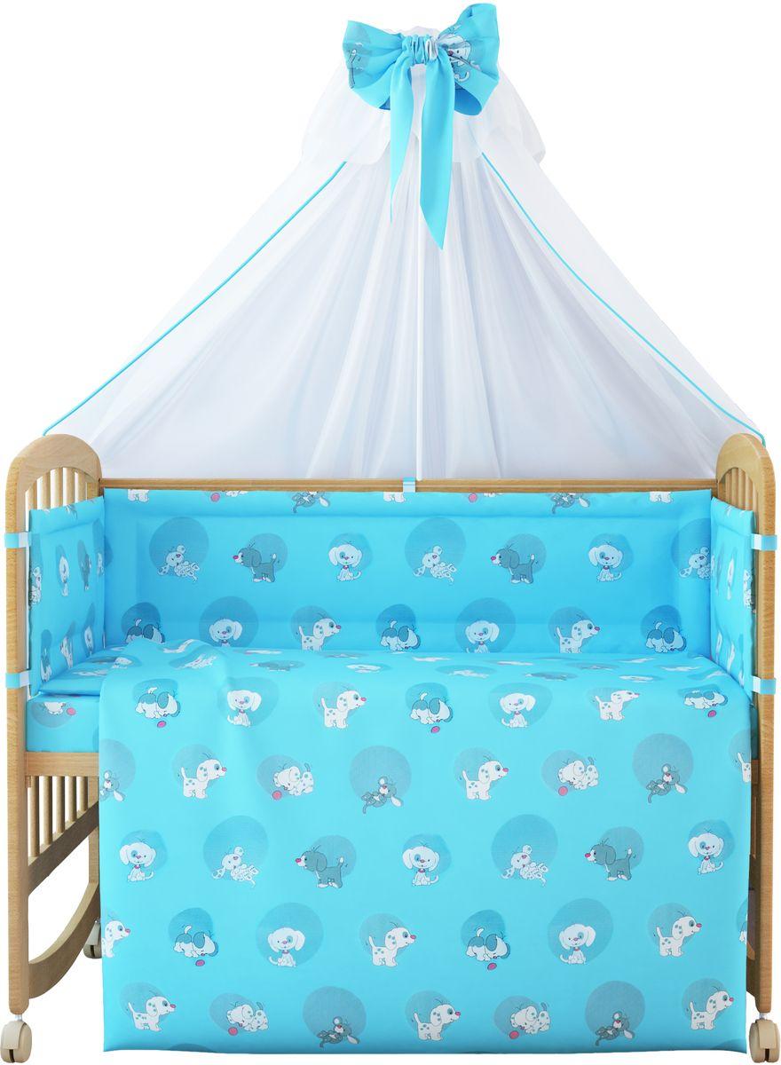 Комплект белья для новорожденных Фея Наши друзья, цвет: голубой, 7 предметов комплект в кроватку фея 0001015 1 голубой