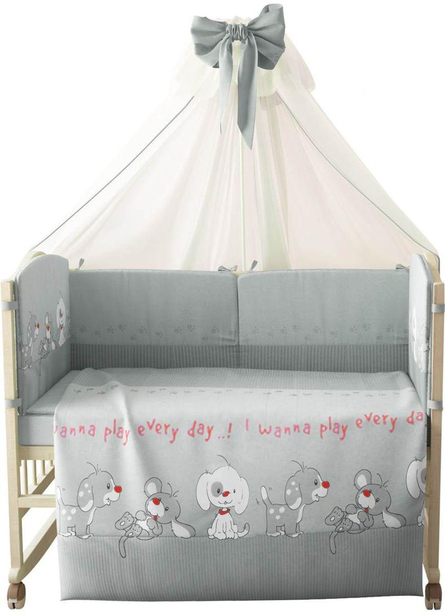 Фея Комплект белья для новорожденных Веселая игра цвет серый 7 предметов комплект белья для новорожденных фея веселая игра цвет серый 6 предметов